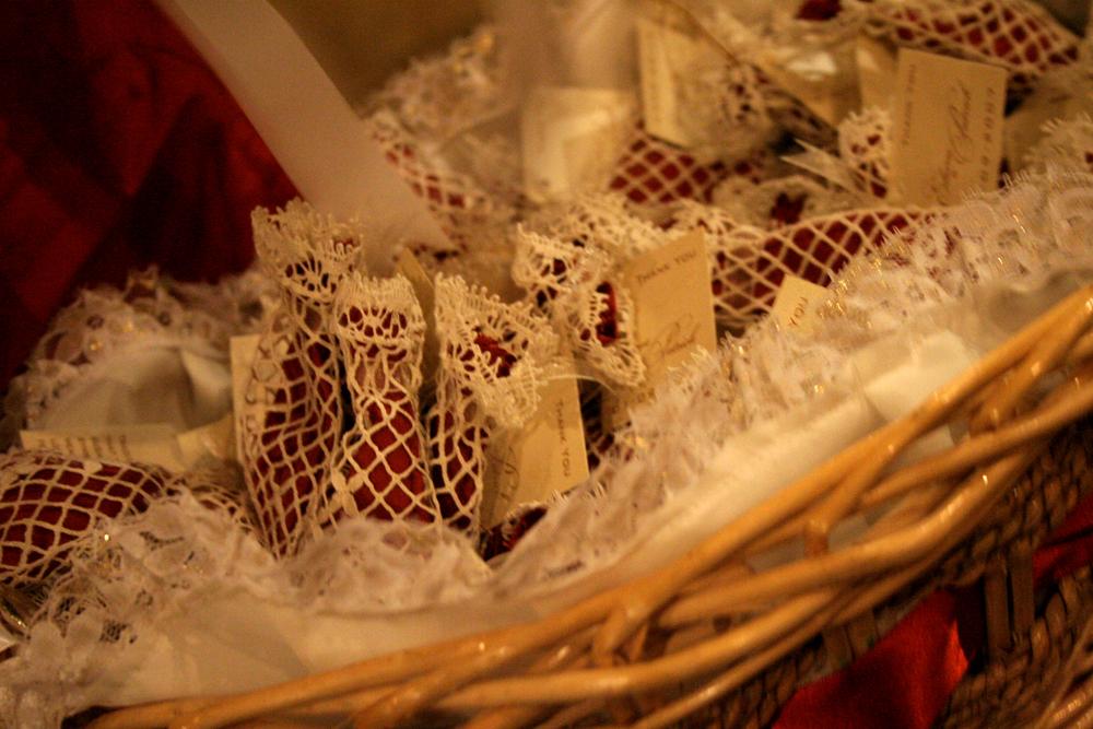 gozo wedding lace bags souvenirs favors