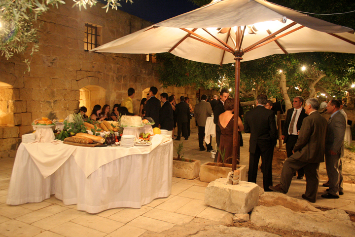 palazzo palina ta cenc gozo wedding cheese table