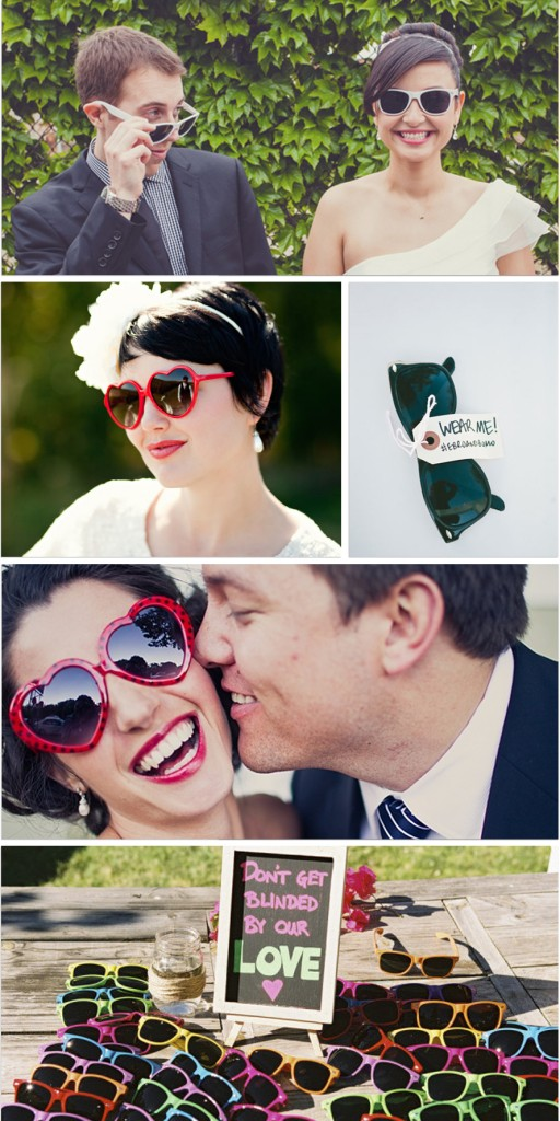 sunglasses weddings