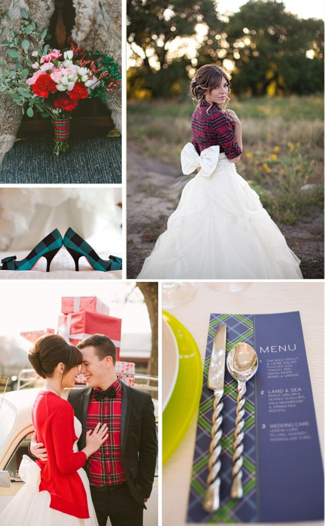 plaid shoes invite menu dress shirt bouquet